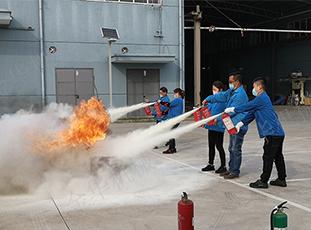 四月二十日 全体员工参加消防演练